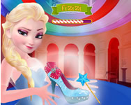 Elsa magic shoes online játék