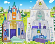 Frozen ice castle doll house online játék
