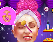 Lady Gaga frozen princess makeover online játék
